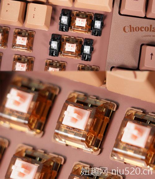 黑爵AK533 87键巧克力键盘,丝滑敲击的原创体验