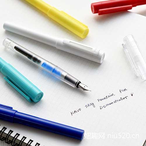百锋钢笔透明彩色可替换明尖钢笔