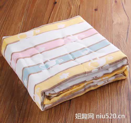 南极人婴儿纱布浴巾 触感柔滑 舒适透气